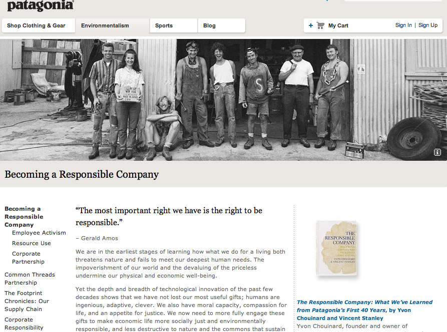 patagonia leading a green revolution case study Free essay: case study four patagonia: leading a green revolution 1)  patagonia has a history of putting sustainability ahead of profits.